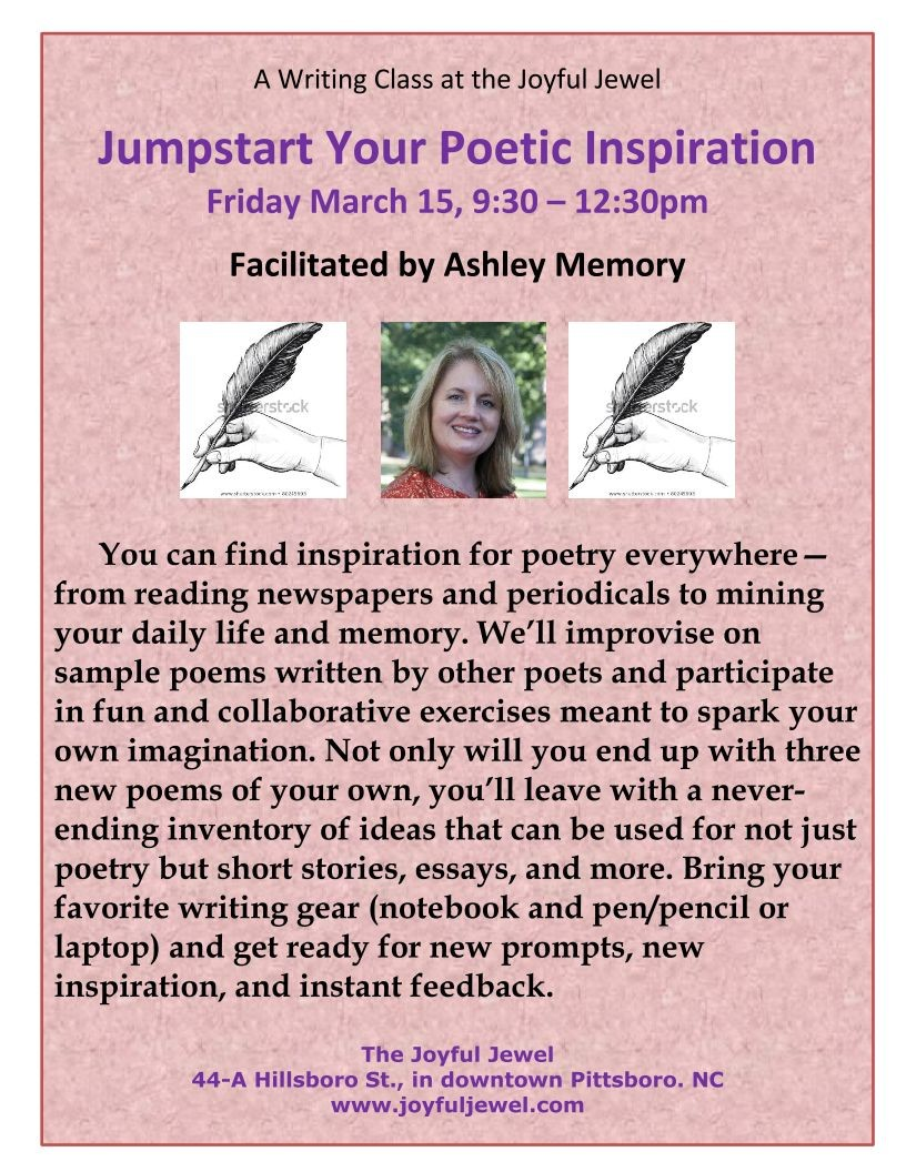 AM poster Jumpstart Your Poetic Inspiration