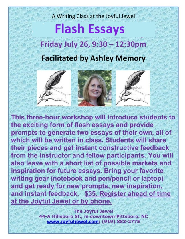 AM Flash Fiction Essays